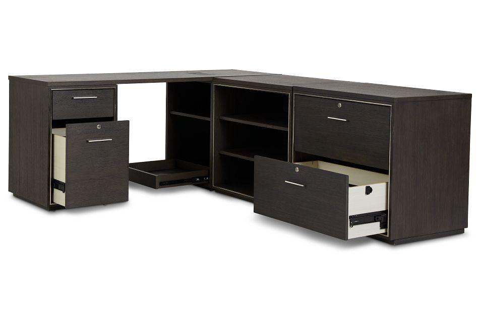 Highline Dark Tone L Desk
