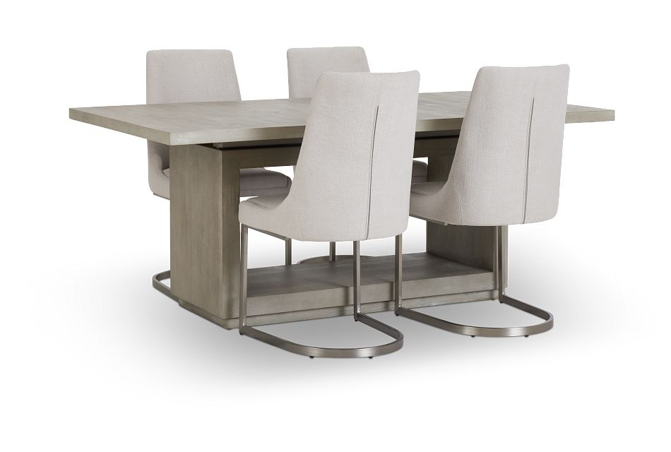 Madden Light Tone Rect Table & 4 Chairs,  (2)