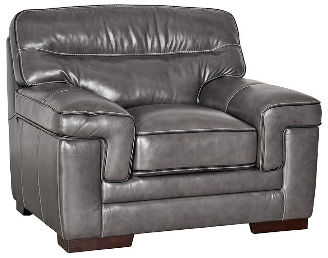 Alexander Gray Leather Chair (0)