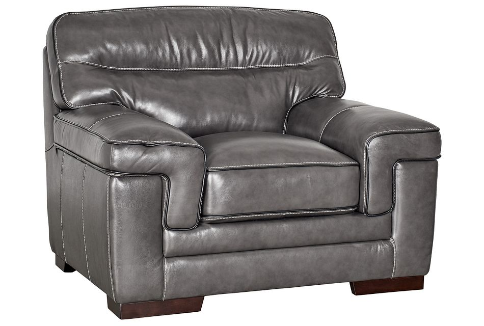 Alexander Gray Leather Chair