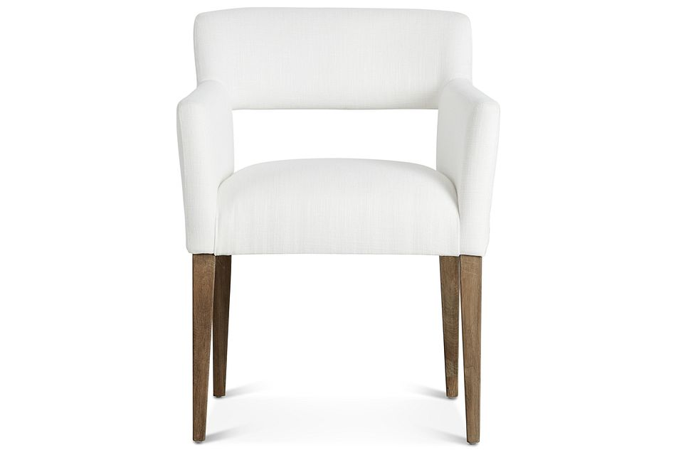 Booker White Upholstered Arm Chair