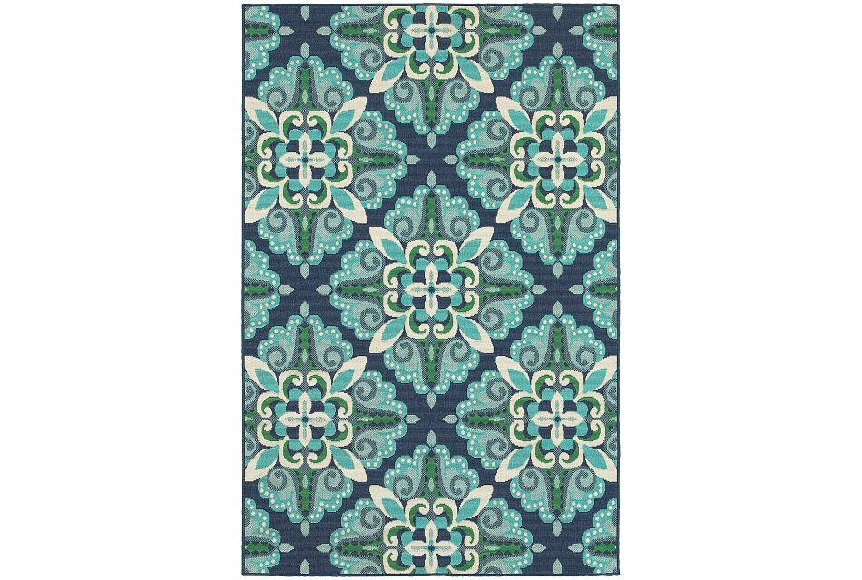 Melissa Teal Indoor/outdoor 8x10 Area Rug