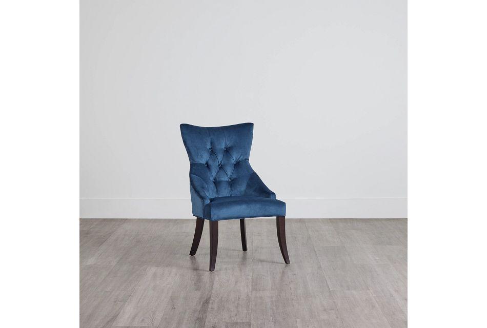 Sloane Dark Blue Upholstered Arm Chair,  (0)