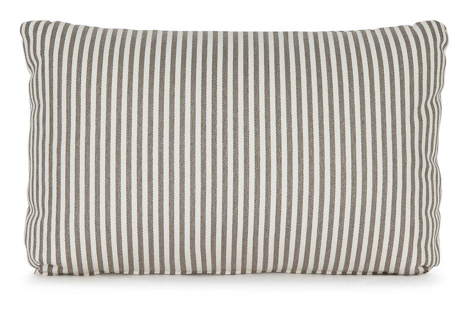 Longboard Taupe Lumbar Accent Pillow