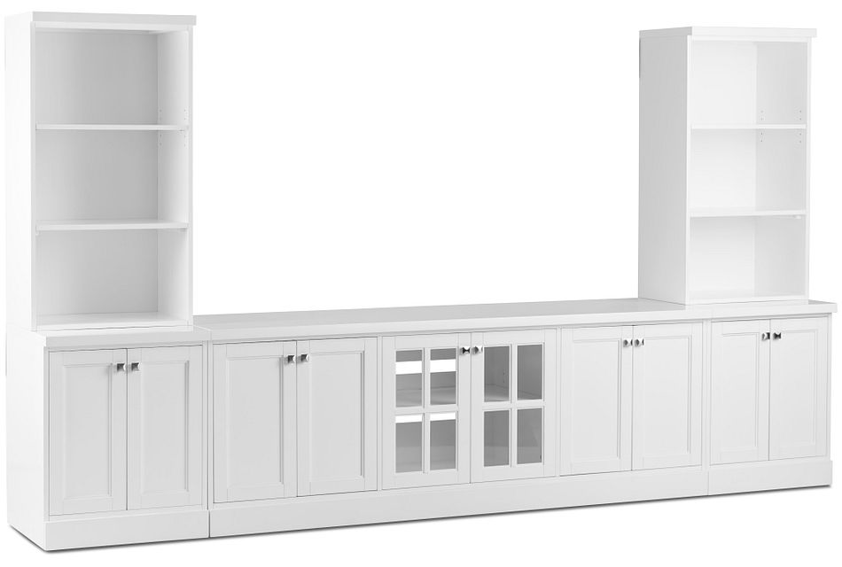 Newport White Large Door Entertainment Wall