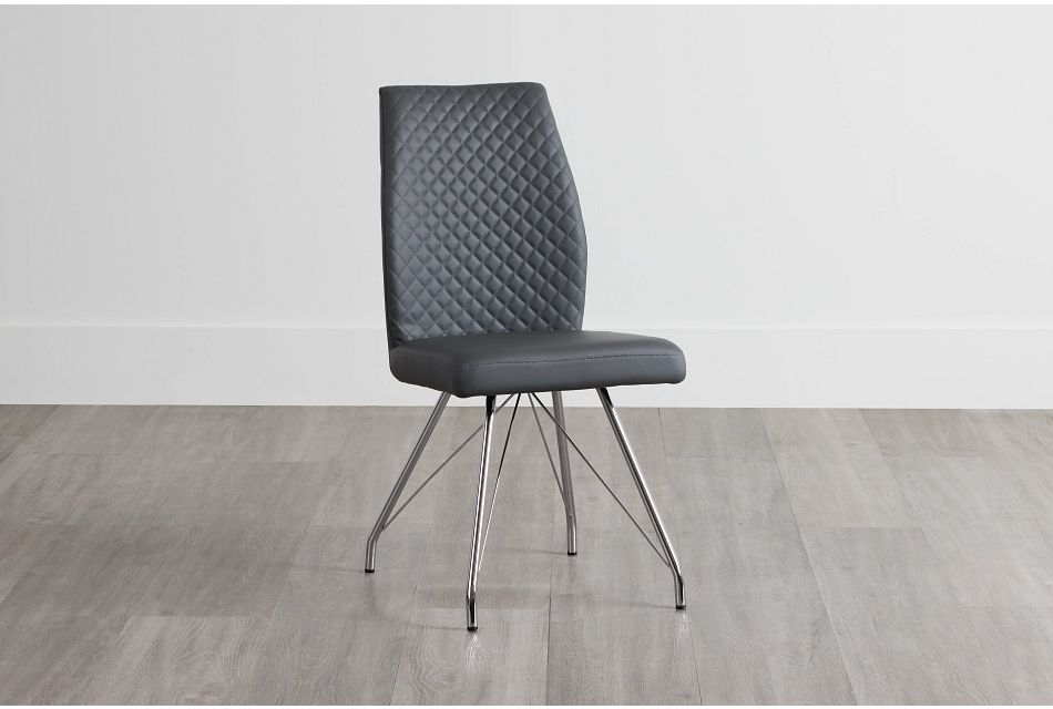 Lima Gray Upholstered Side Chair,  (0)