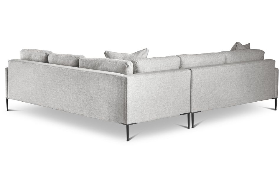Morgan Light Gray Fabric Small Left 2-arm Sectional W/ Metal Legs