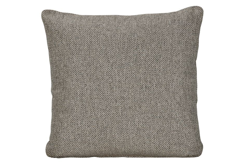 Avery Dark Gray Fabric Square Accent Pillow