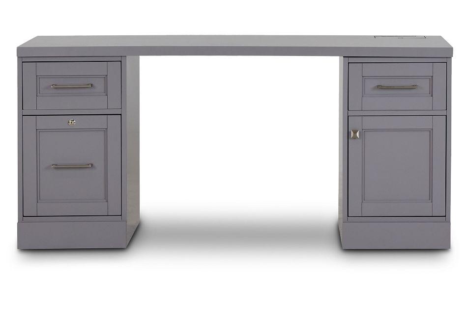 Newport Gray Writing Desk,  (1)
