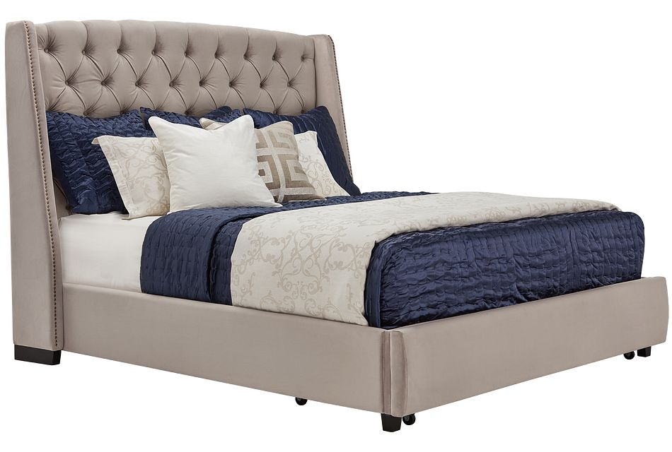 Raven Gray Uph Platform Storage Bed