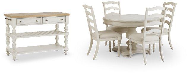 Savannah Ivory Round Dining Room