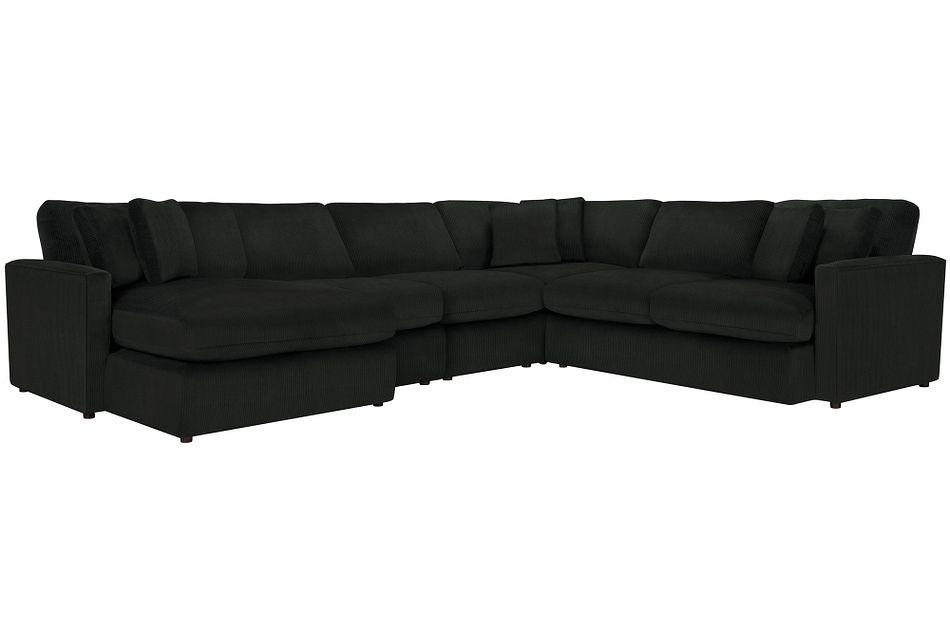 Tara2 Dark Gray  MICRO Left Chaise Sectional