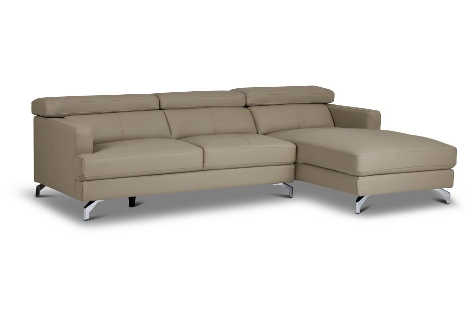 Marquez Taupe Micro Right Chaise Sectional,  (1)