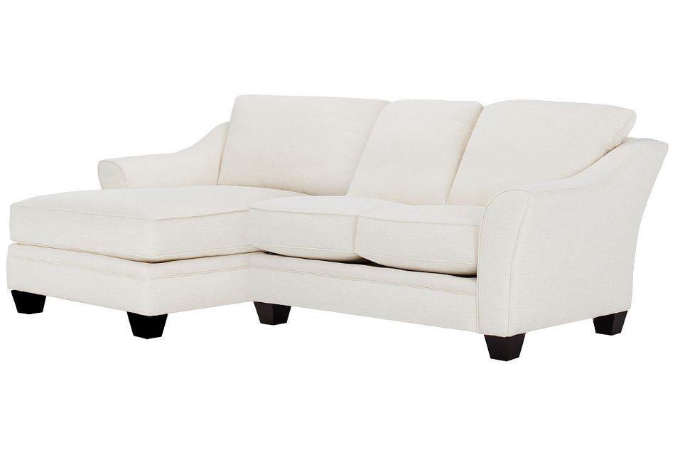 Avery WHITE FABRIC Left Chaise Sectional,  (0)