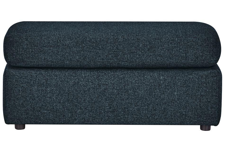 Noah Dark Blue  Fabric Ottoman,  (1)