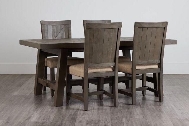 Taryn Gray Rect Table & 4 Wood Chairs (0)