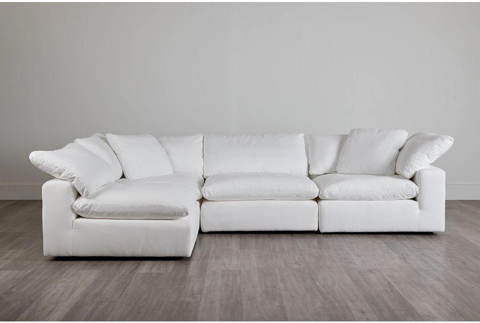 Nixon White Fabric 4-Piece Modular Sectional,  (0)