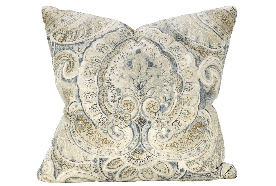 Sonoma Blue Floral Square Accent Pillow
