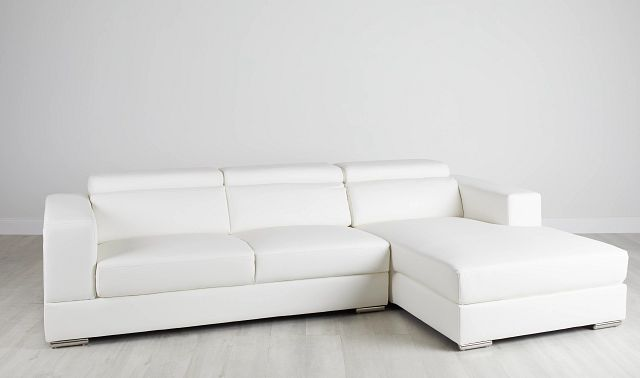 Maxwell White Micro Right Chaise Sectional (0)