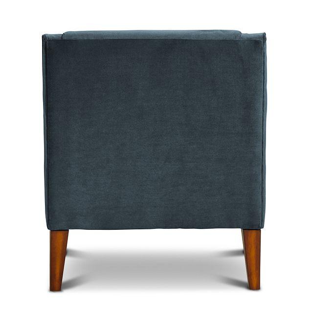Dawson Dark Blue Velvet Accent Chair (3)