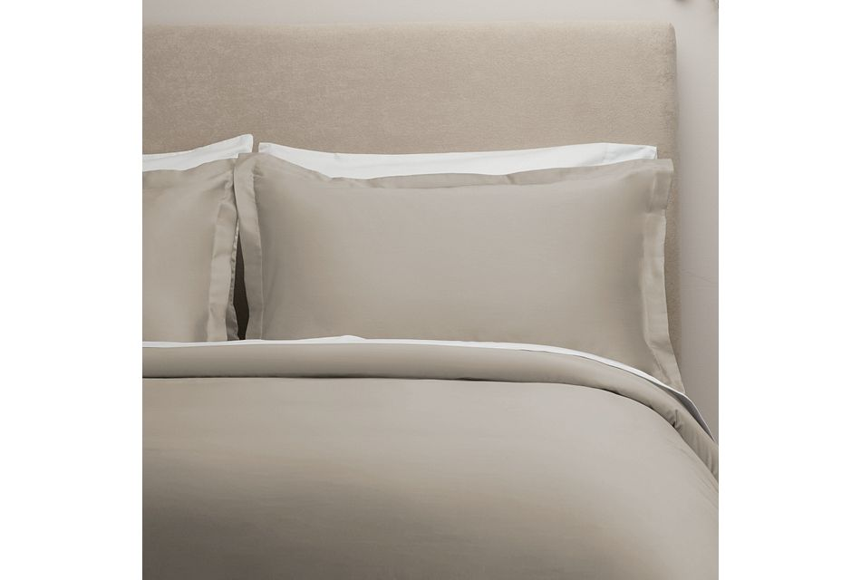 Egyptian Cotton Beige 400 Thread Duvet Set