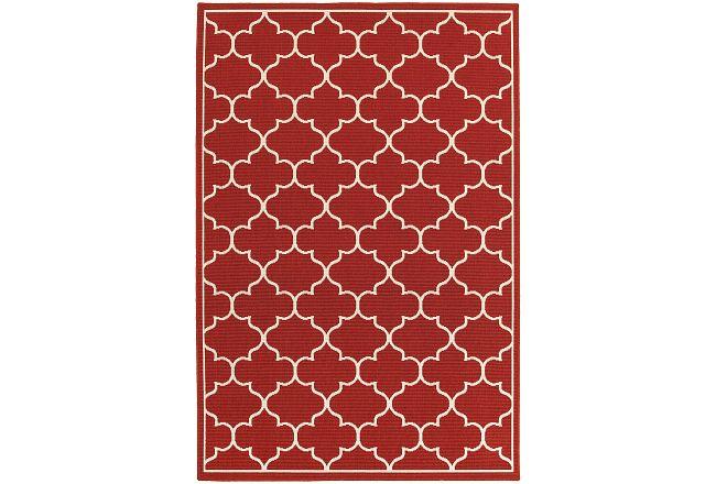 Melody Red Indoor/outdoor 5x8 Area Rug