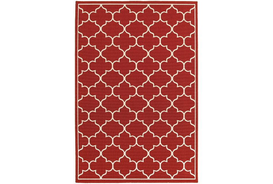 Melody Red Indoor/outdoor 5x8 Area Rug