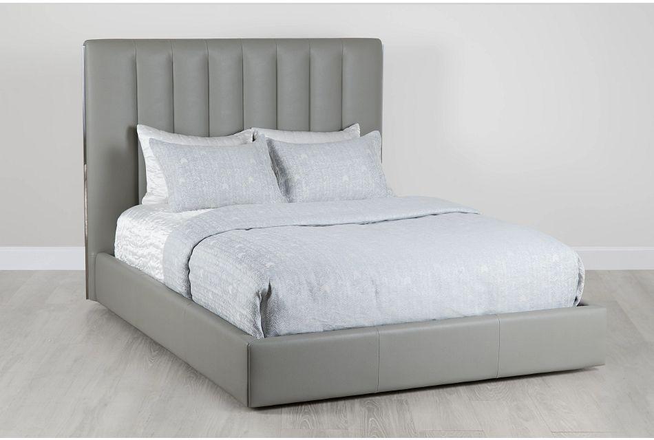 Odessa Gray Uph Platform Bed