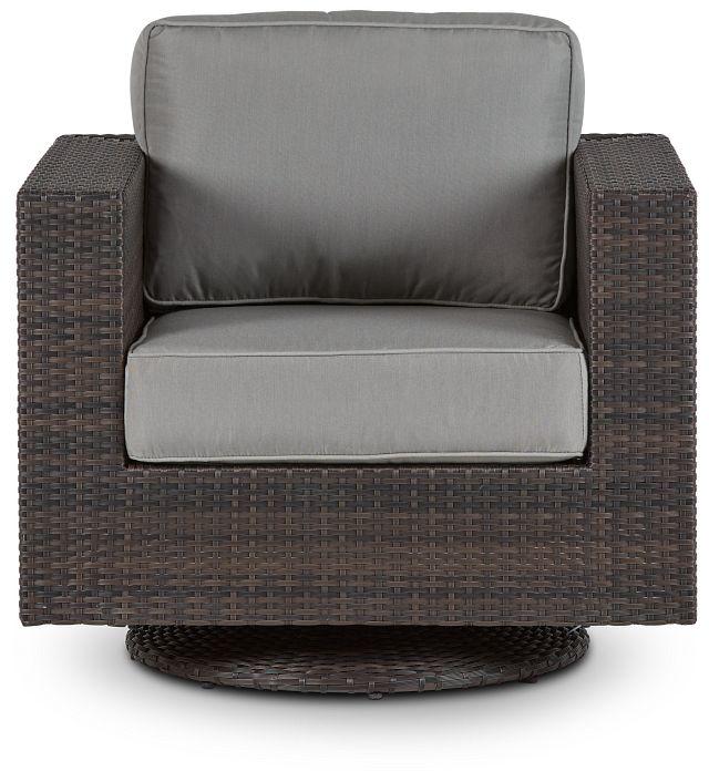 Fina Gray Swivel Chair (2)