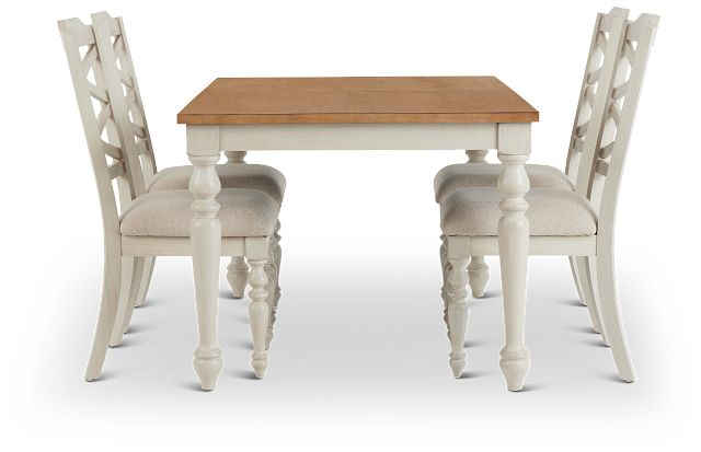 Lexington Two-tone Table & 4 Chairs (3)