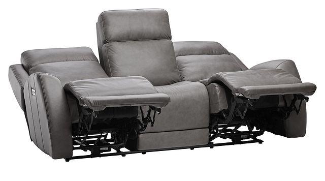 Rawlings Dark Gray Leather Power Reclining Sofa (2)