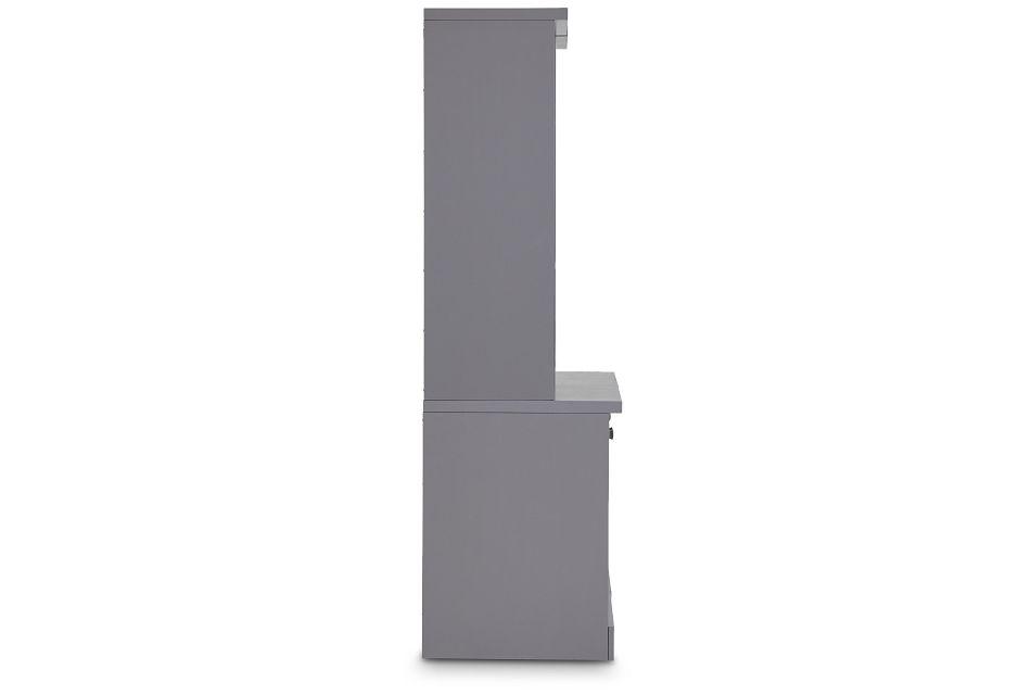 Newport Gray Door Bookcase,  (3)