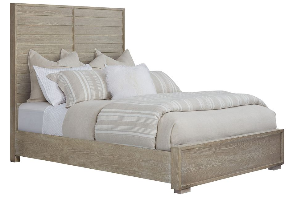 Zephyr Light Tone Panel Bed