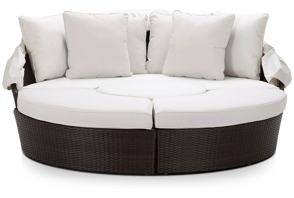 Fina White Canopy Daybed,  (3)