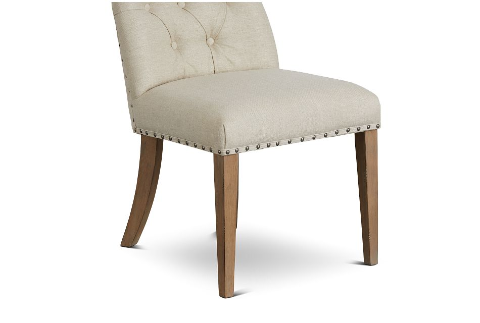 Haddie Light Tone Upholstered Side Chair