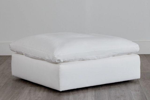 Nixon White Fabric Cocktail Ottoman (0)