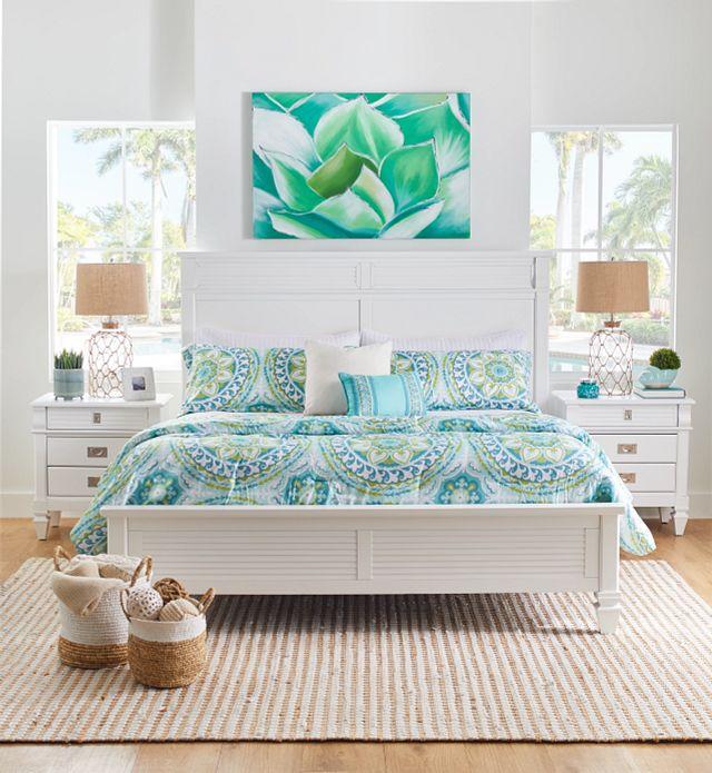 Marina White Panel Storage Bed (3)
