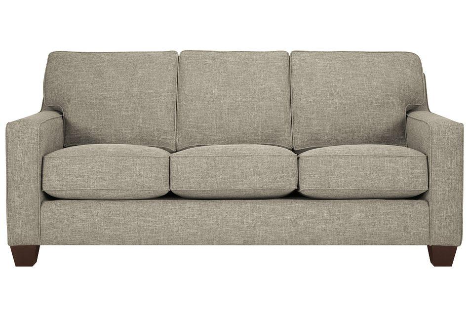 York Pewter Fabric Sofa