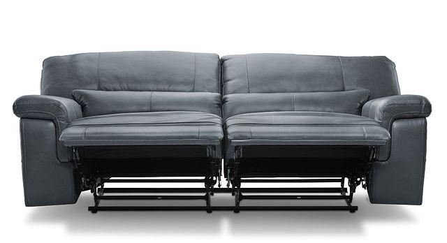 Weston Light Gray Lthr/vinyl Reclining Sofa (1)