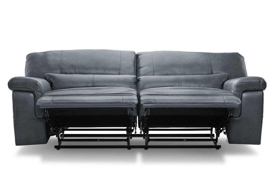 Weston Light Gray Lthr/vinyl Reclining Sofa