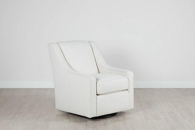 Austin White Fabric Swivel Rocker Glider (0)