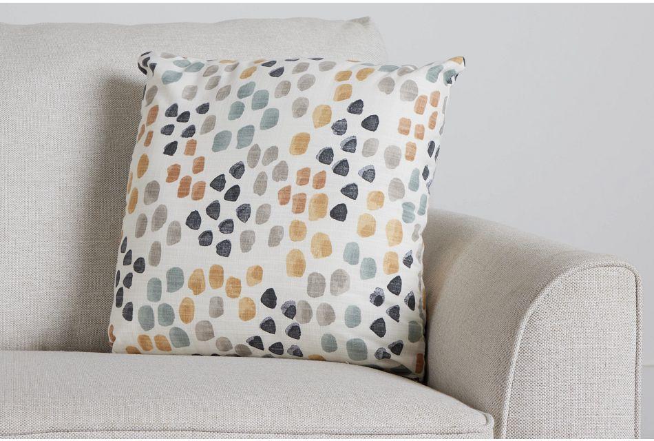 "Pfeiffer Yellow Fabric 18"" Accent Pillow,  (0)"