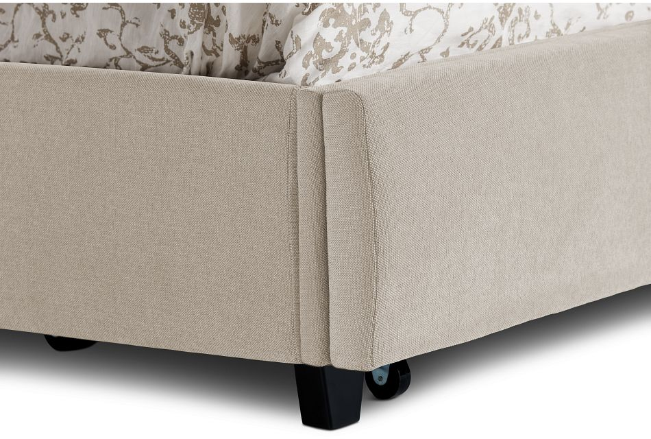 Cora Taupe Uph Platform Storage Bed