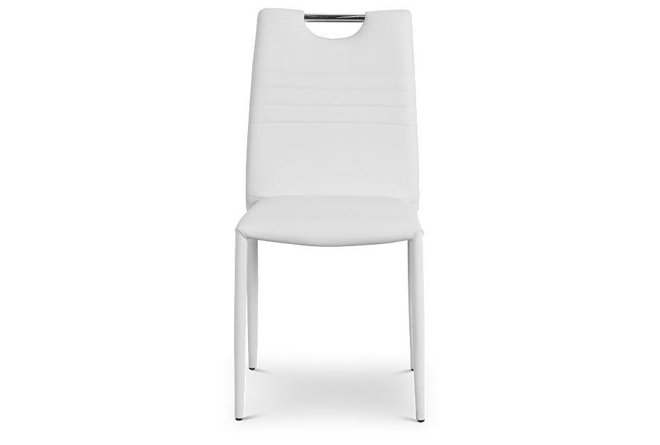 Skyline White Upholstered Side Chair,  (3)