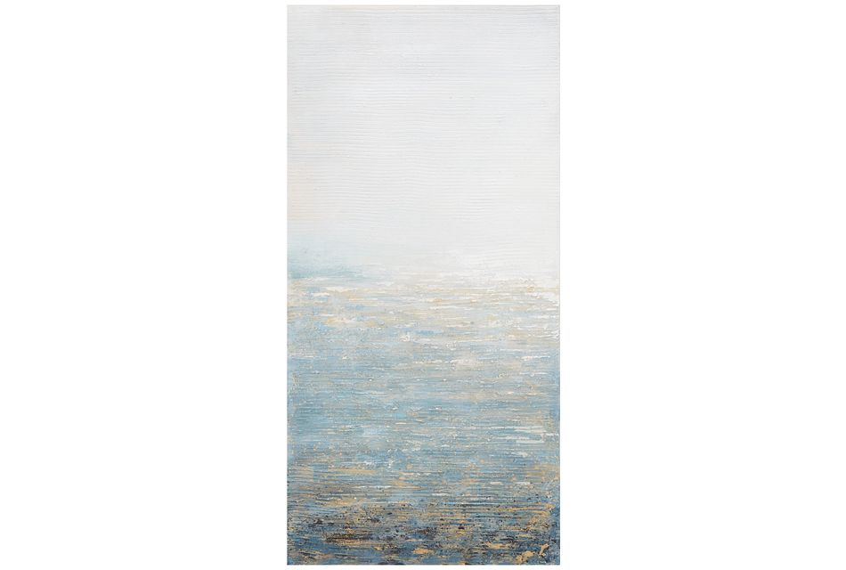 Oceana Light Blue Canvas Wall Art