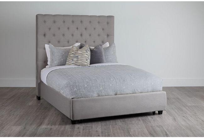 Rylee Dark Gray Uph Platform Storage Bed