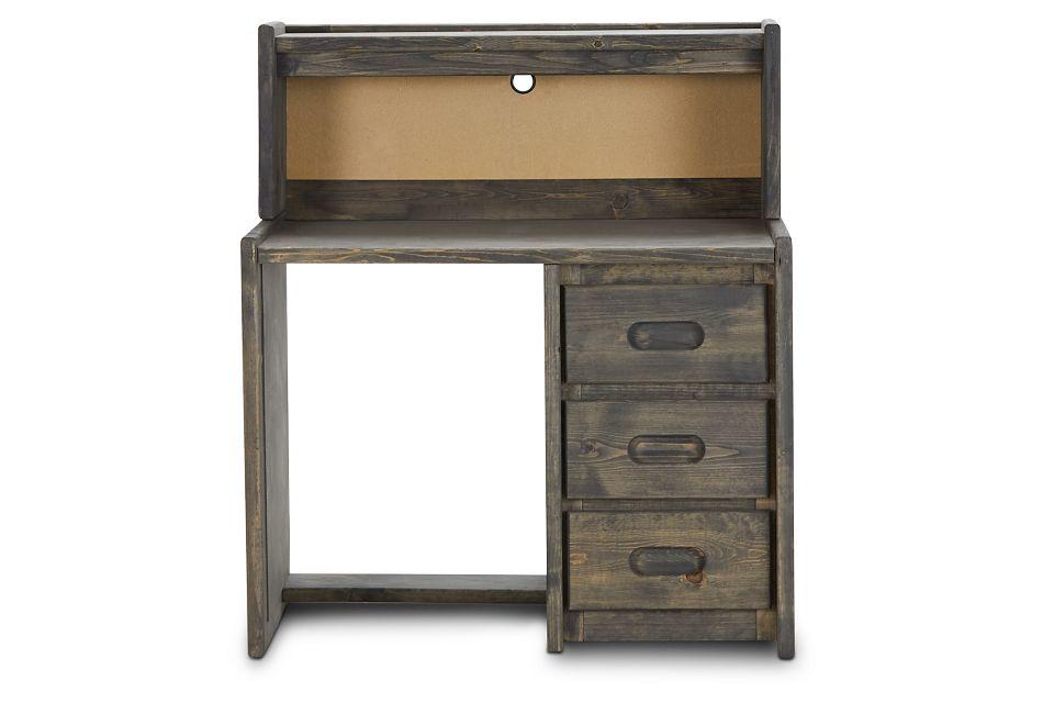 Cinnamon Gray Desk And Hutch