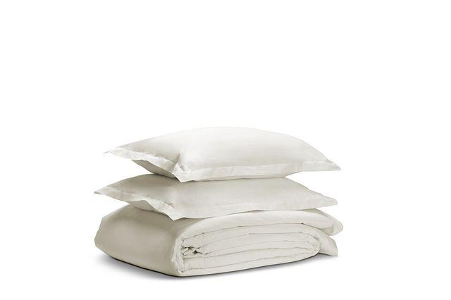 Egyptian Cotton White 400 Thread Duvet Set (1)