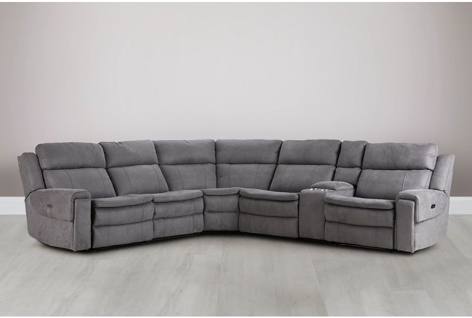 Scout Gray Micro Medium Triple Power Sectional