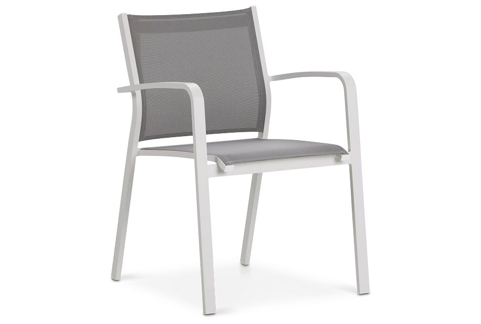 Lisbon Gray Sling Chair,  (0)